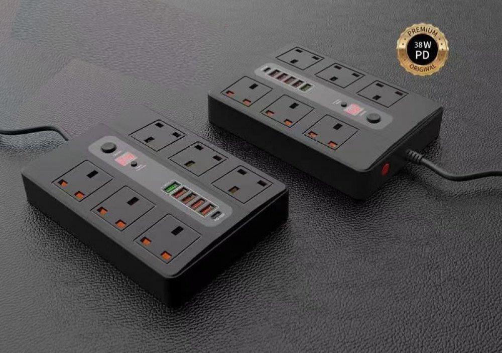 توصيلة كهربائبة موج ماكس  ب 6 مخارج مزودة بمؤقت ذكي مع منافذ USB متعدد