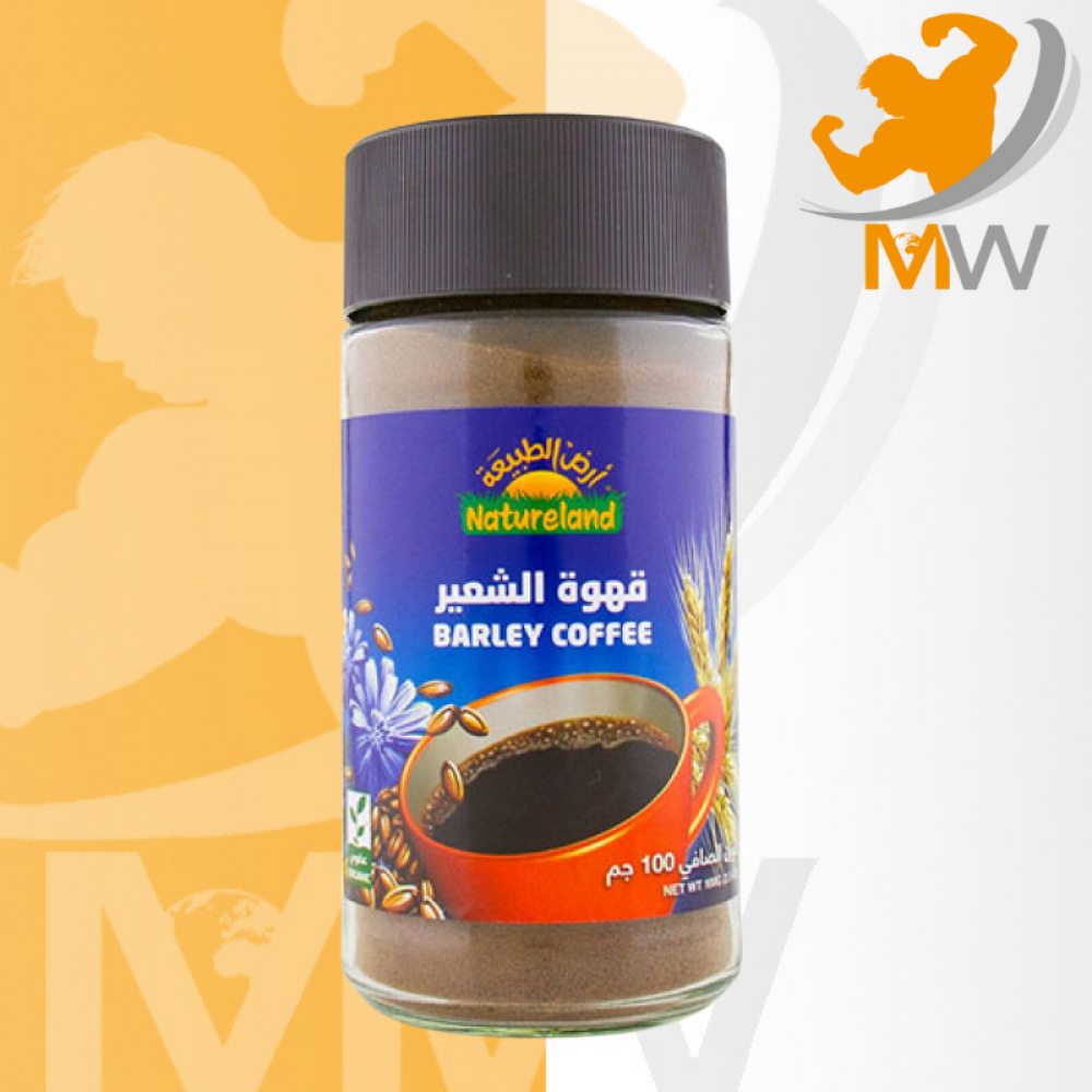 أرض الطبيعة قهوة الشعير العضوية 100 جرام عالم العضلات