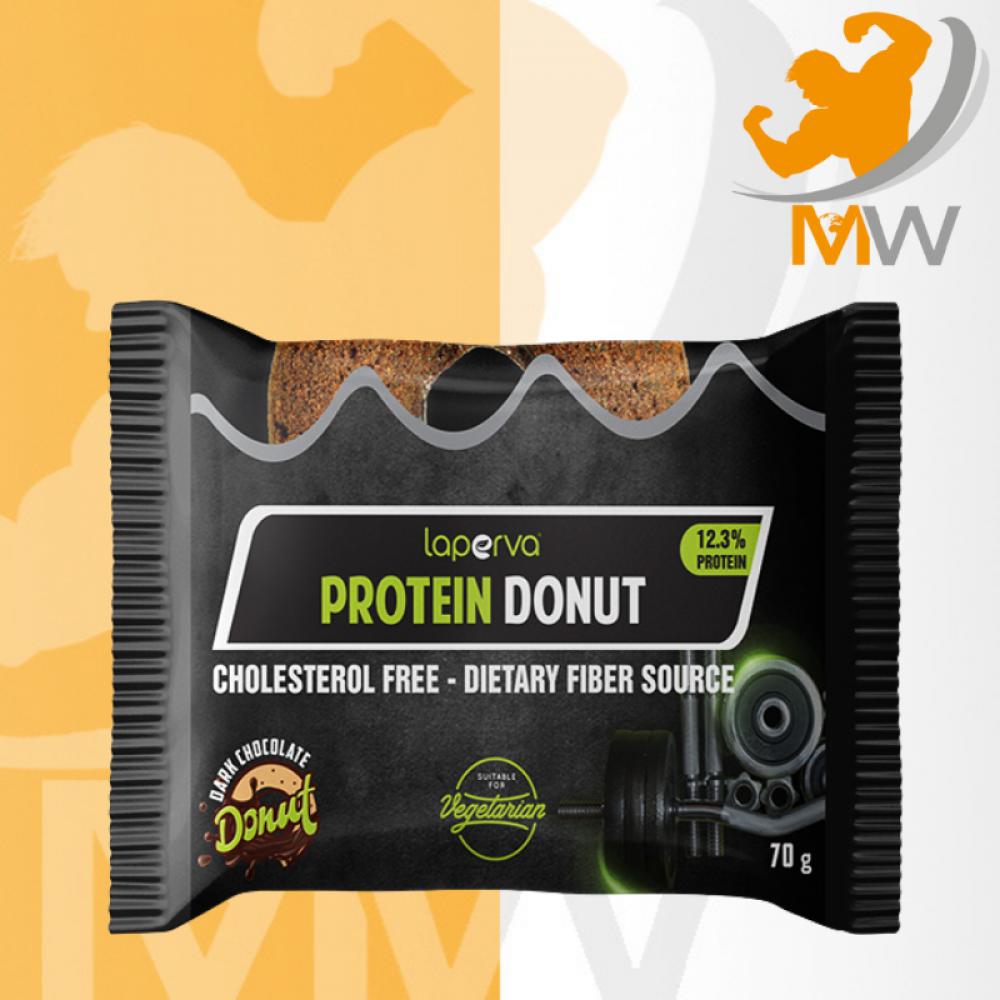 لابيرفا بروتين دونت شوكولاته داكنه 70 جم LAPERVA Protein Donut 70g