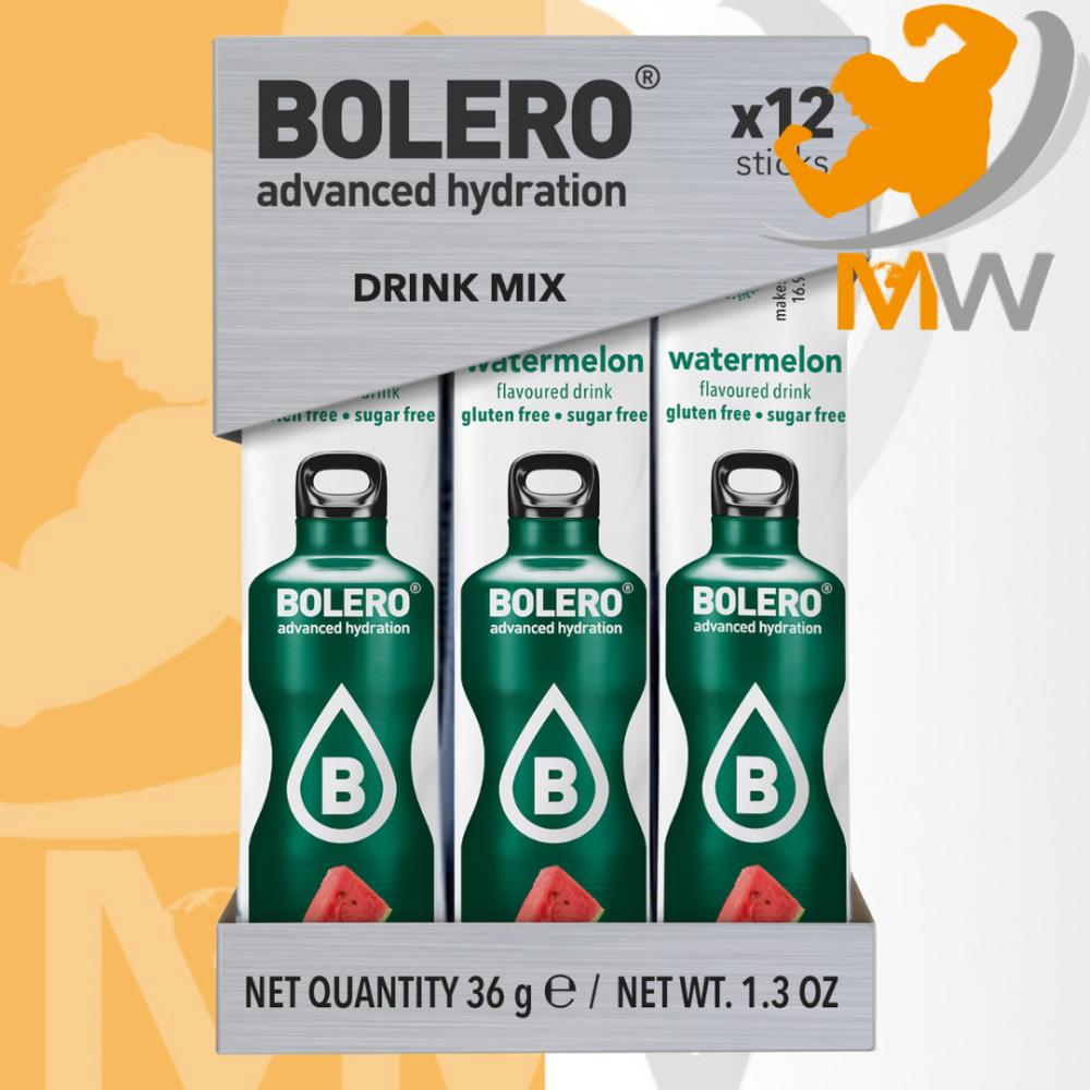 عالم العضلات مكملات غذائية بروتين مشروب بوليرو منكه البطيخ 12 مغلف - B