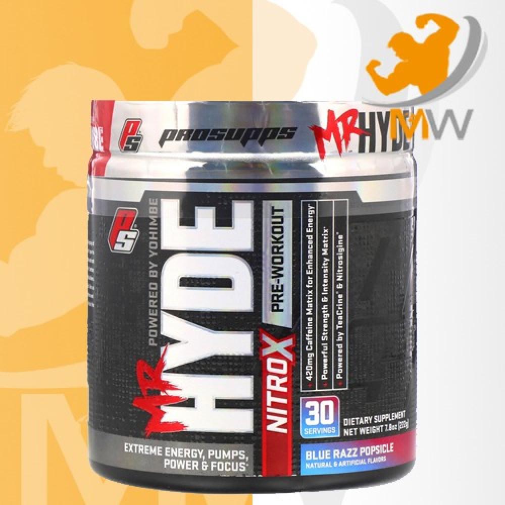 عالم العضلات muscles world مكملات غذائية طاقة و ضخ الدم hyde nitrox