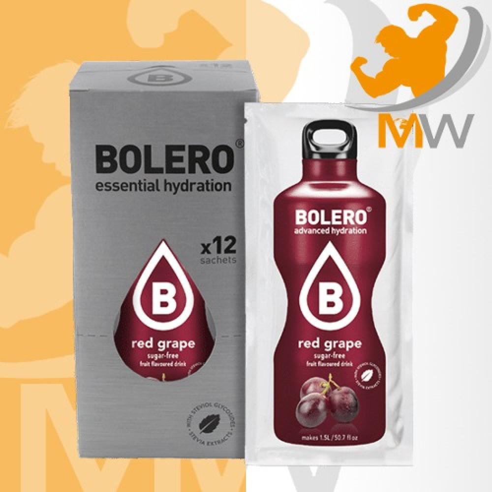 عالم العضلات مكملات غذائية بروتين مشروب بوليرو منكه العنب الأحمر 12 مغ