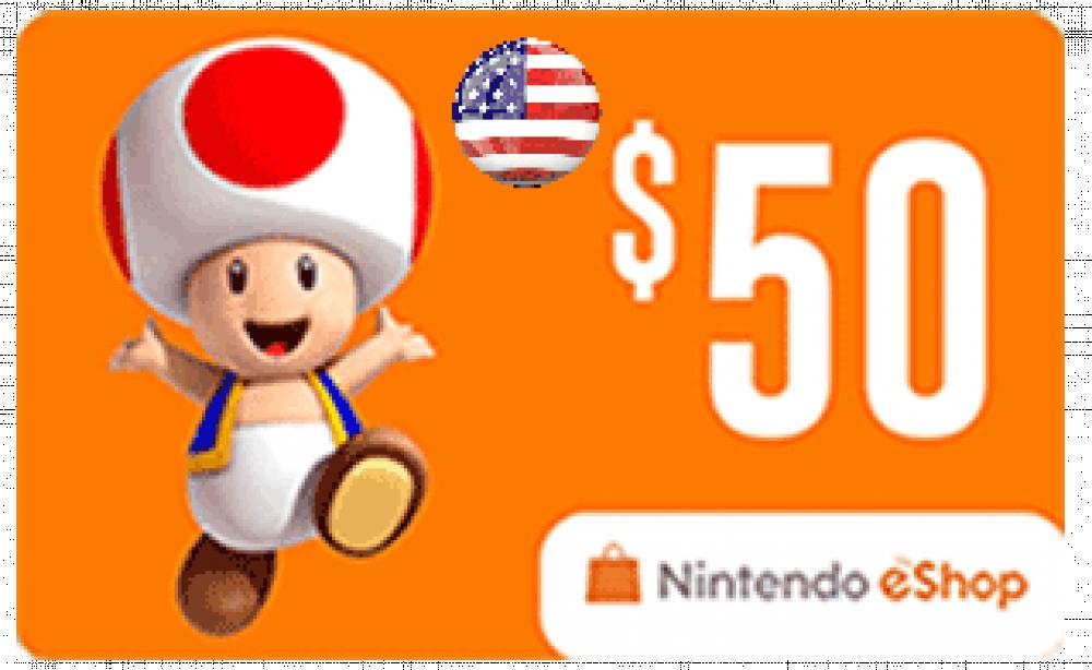 50 دولار نينتيندو سويتش أمريكي