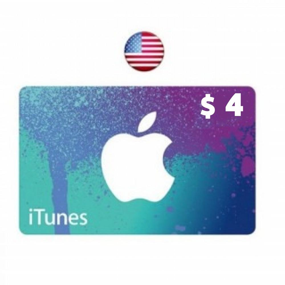 بطاقة 4 دولار ايتونز