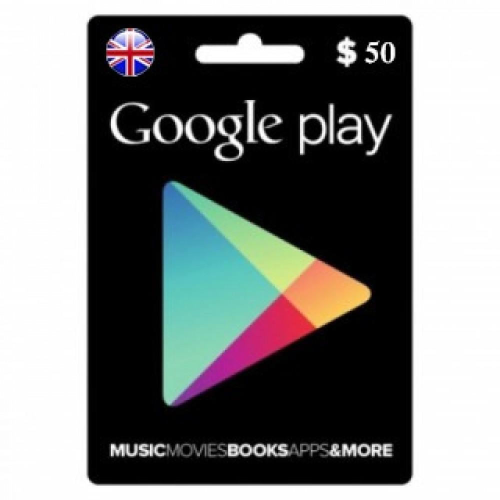 بطاقة جوجل بلاي بريطاني رخيص
