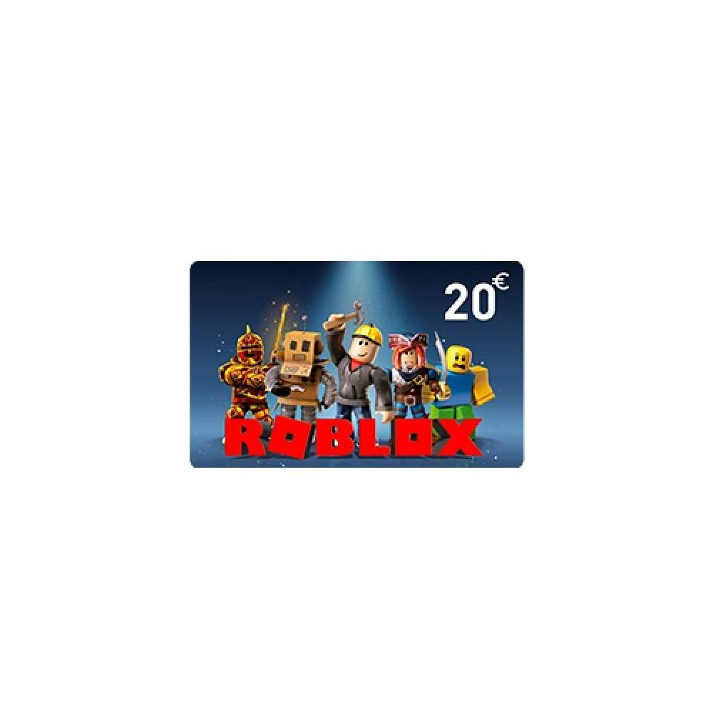 بطاقة شحن Roblox بقيمة 20 يورو اوروبي