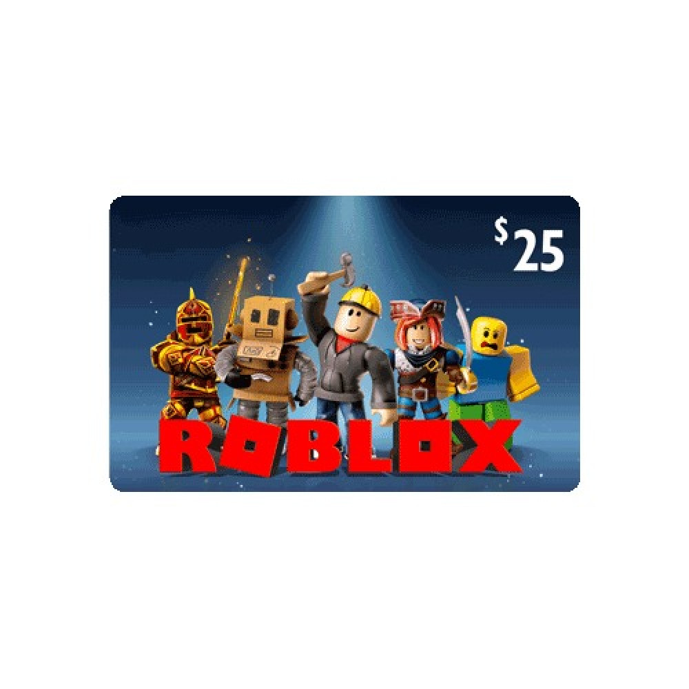 بطاقة 25 دولار روبلوكس