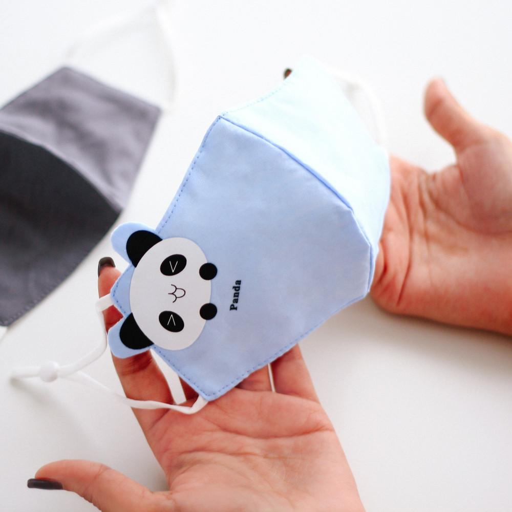 كمامة قماشية كمامات للأطفال برسومات كمامات أطفال باندا كلب البحر