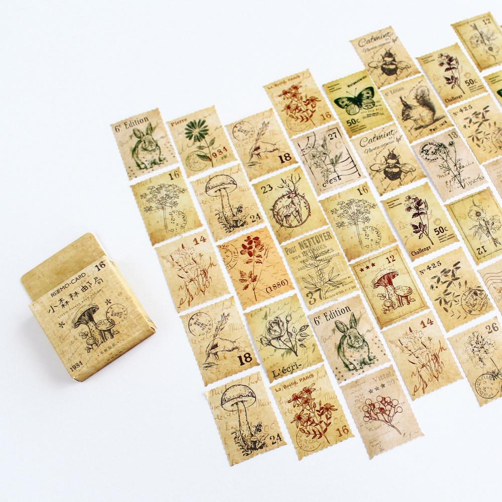 ستيكرات طوابع بريدية فنتج أفكار لتغليف الهدايا طابع بريدي للرسائل