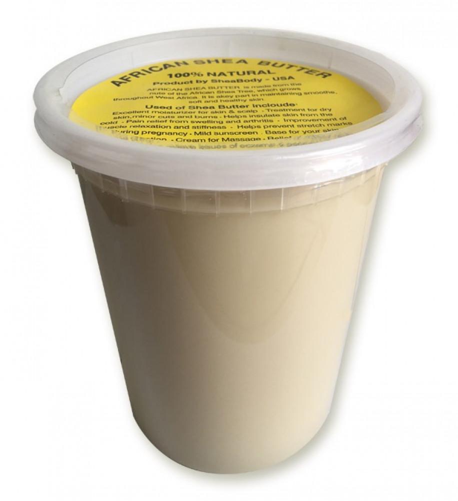 زبدة الشيا العاجية علبة كبيرة 900 جرام خام طبيعية بدون إضافات