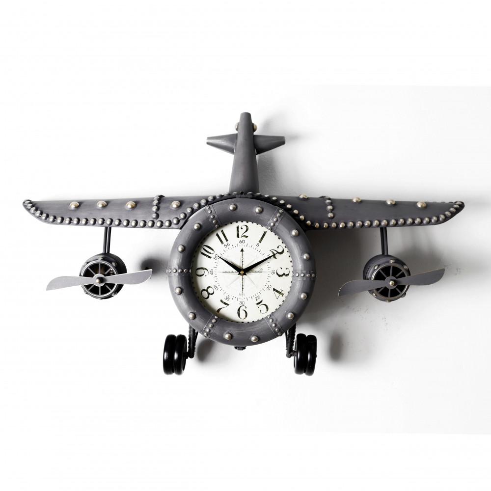 صور ساعة حائط أنتيكة موديل بلان فور شكل طائرة صناعة معدنية قديمة فاخرة