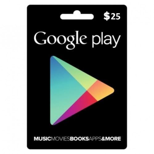جوجل بلاي امريكي 25 دولار