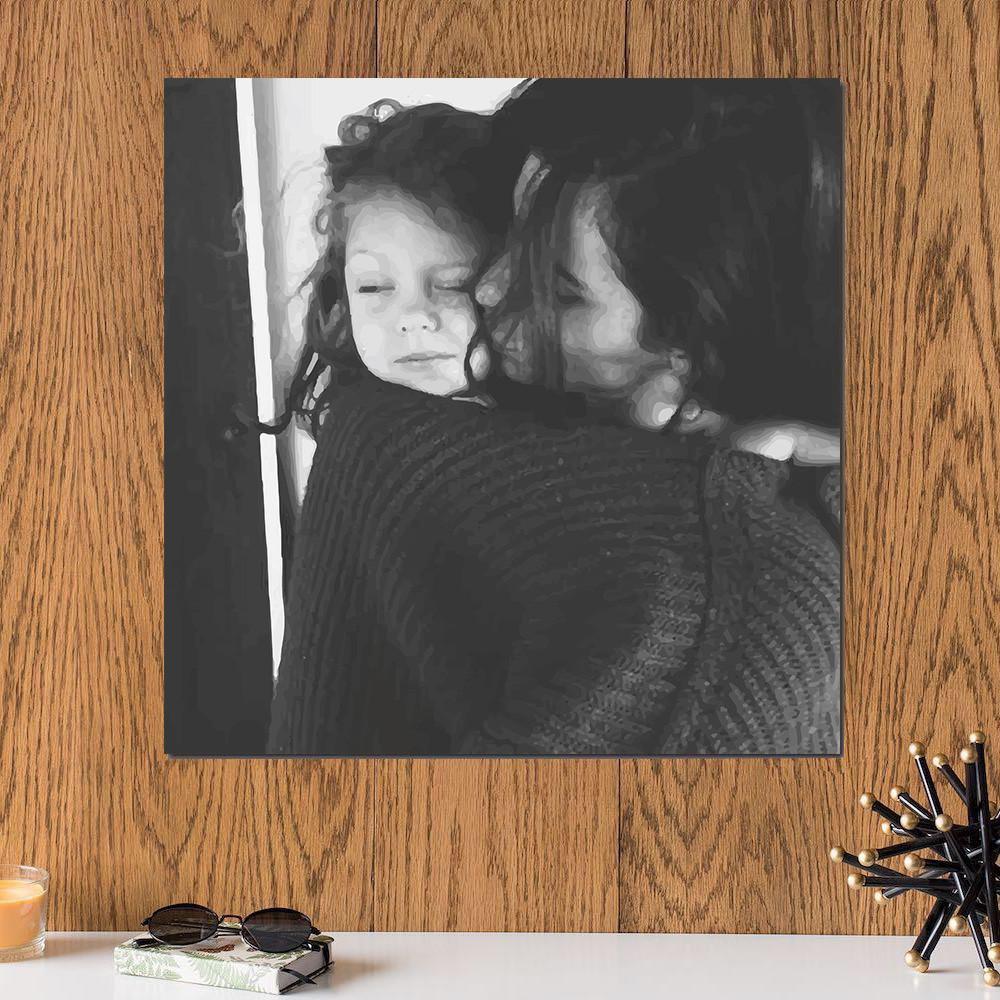 لوحة الأمومة خشب ام دي اف مقاس 30x30 سنتيمتر