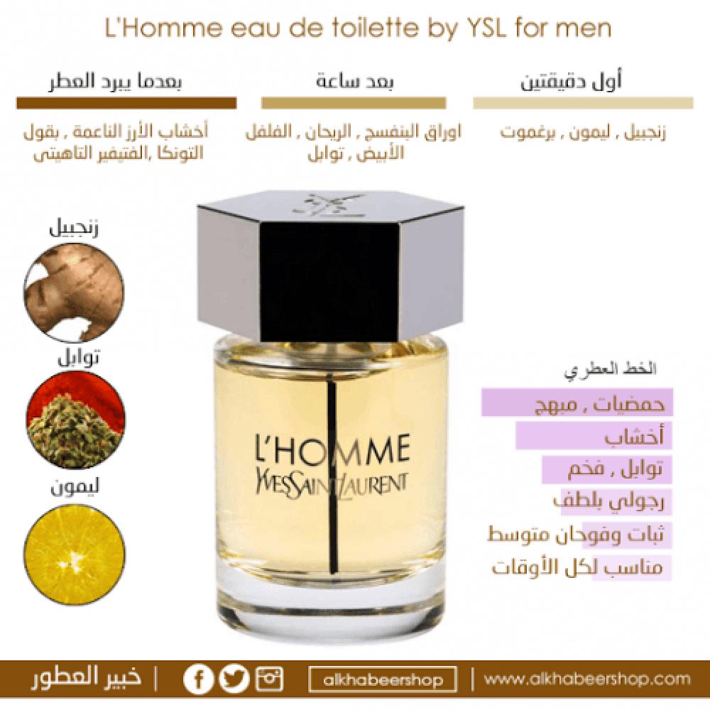 Yves Saint Laurent LHomme Eau de Toilette 200ml خبير العطور