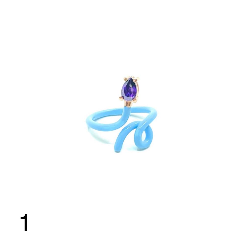 خاتم حلزون 3 فضه عيار 925