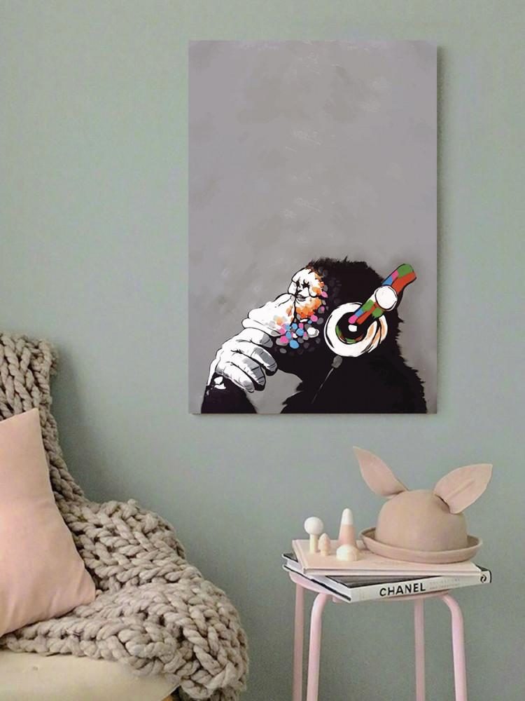 لوحة القرد الكول خشب ام دي اف مقاس 40x60 سنتيمتر
