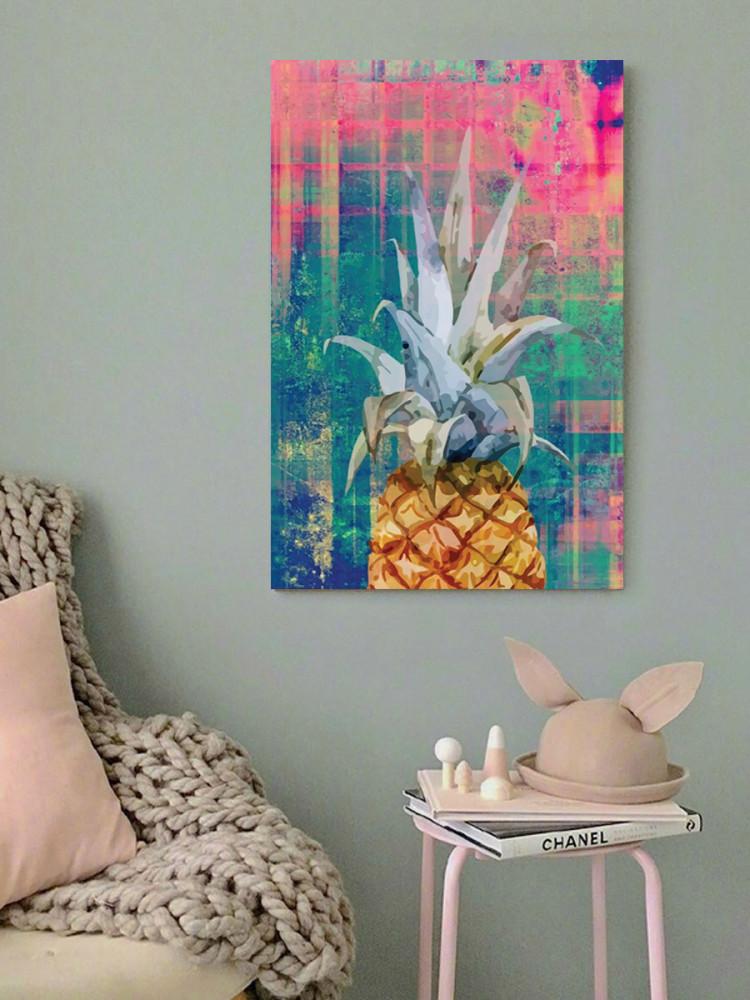 لوحة الأناناس خشب ام دي اف مقاس 40x60 سنتيمتر