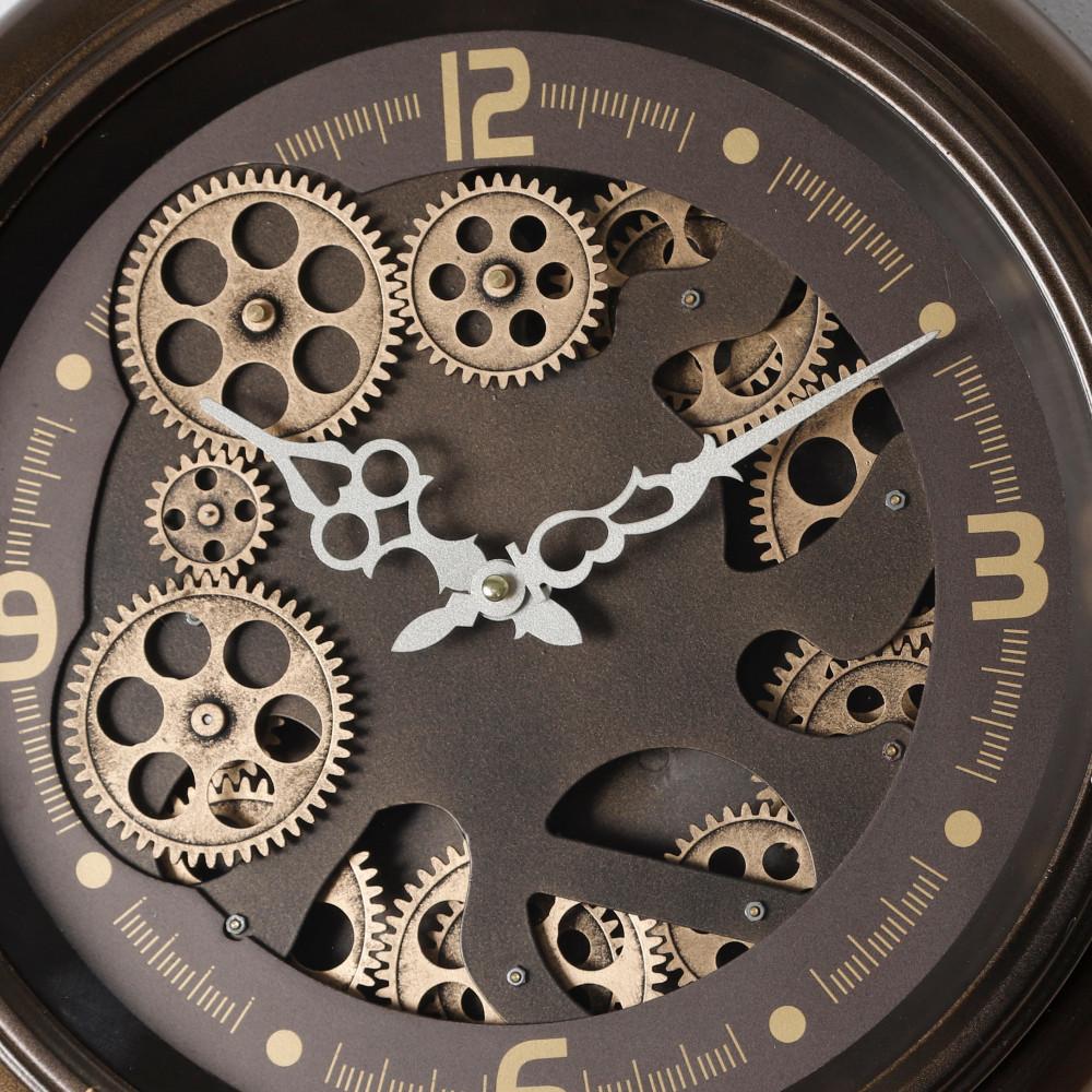 ساعة حائط موديل ميد نايت انتيك دائرية بتروس صناعة معدنية دقة عالية