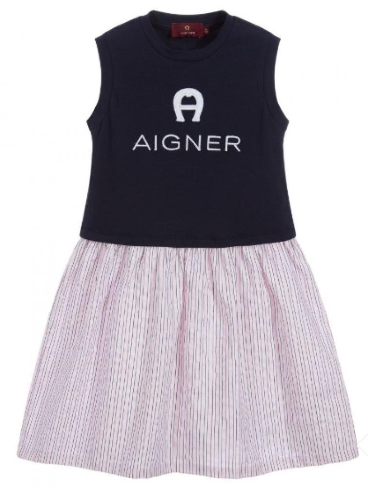 فستان انيق باللونين الوردي  والاسود من ماركة Aigner - دوها
