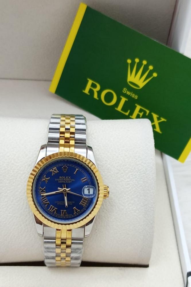 ساعة رولكس ديت جست مينا ازرق