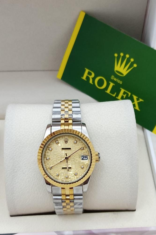 ساعة ماركة رولكس مينا رقمية ذهبي