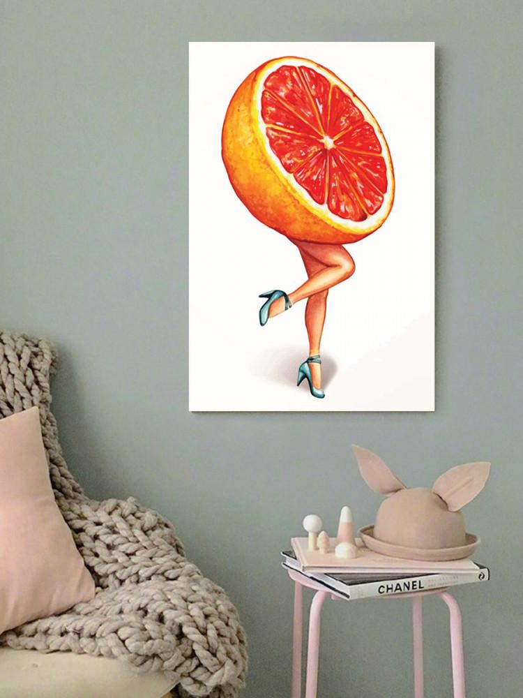 لوحة البرتقالة خشب ام دي اف مقاس 40x60 سنتيمتر