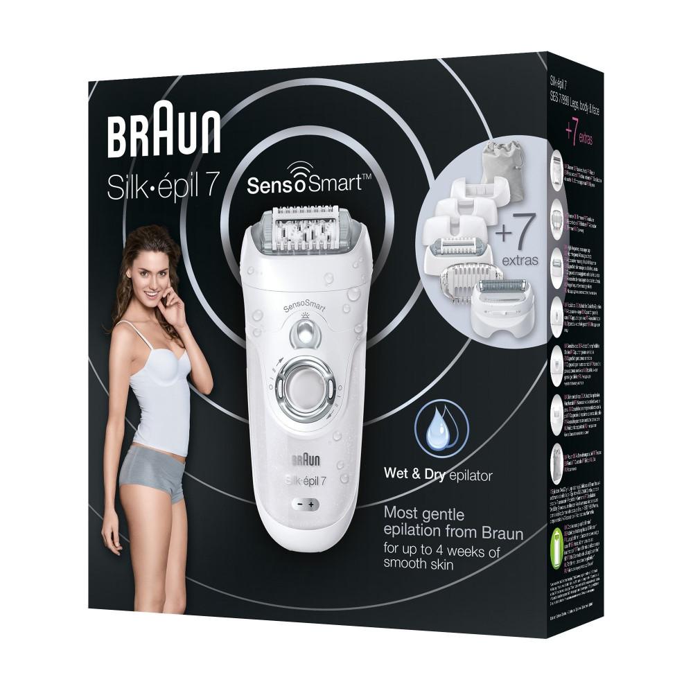 Braun Silk-epil 7 Sensosmart SE7 880 Epilator  Cordless Wet  Dry Epil