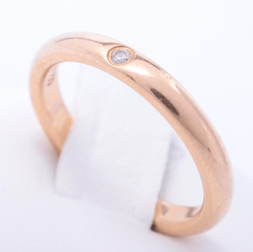 خاتم تيفاني ذهب وردي الأصلي