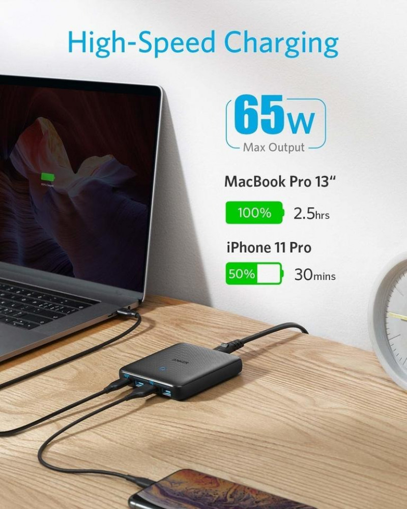 charger anker high speed c65 waat