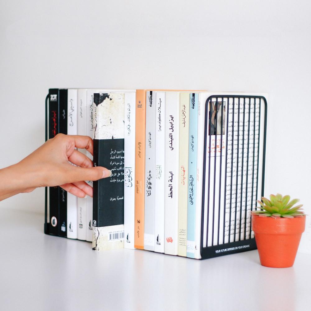 حامل كتب للمكتبة سنادات كتب اكسسوارات مكتب طريقة تزيين المكتب