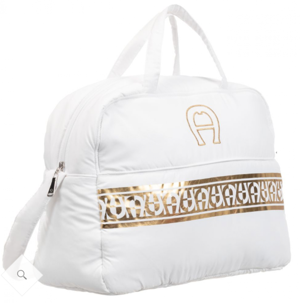 حقيبة يد باللون الأبيض من ماركة Aigner