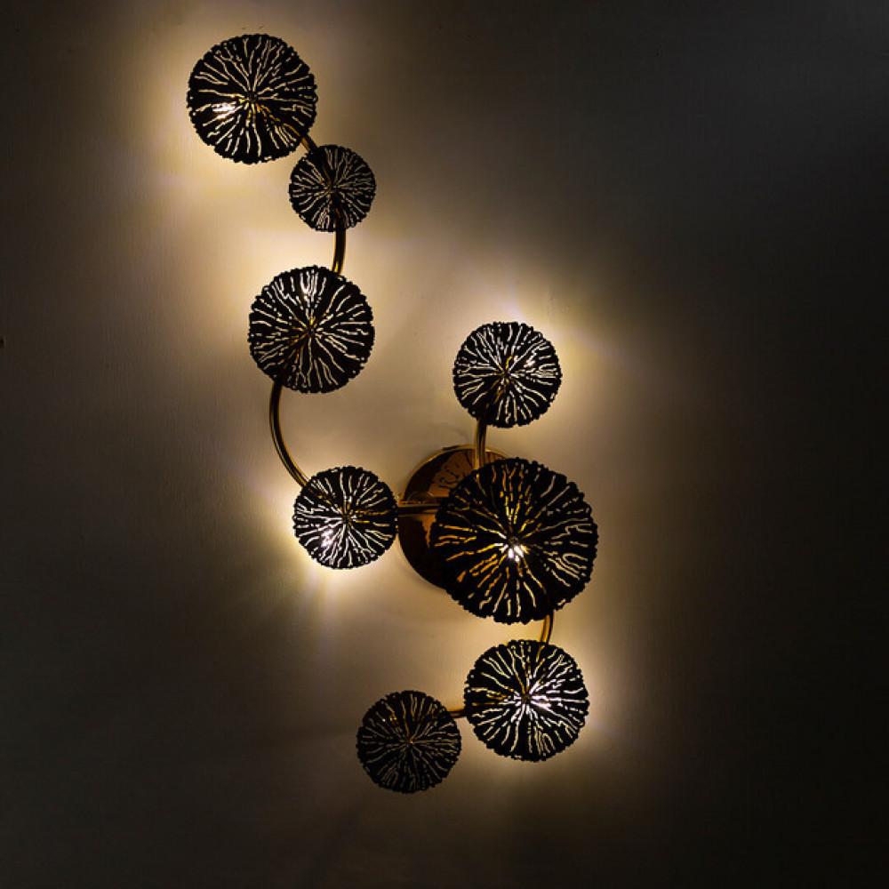 ثريا جدار داخلية كلاسيك دوائر ذهبية LED - فانوس