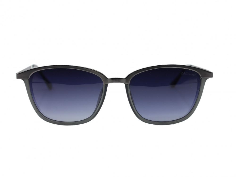 نظارة شمسية  مربعه من ماركة VARIETYلون العسه اسود مدرج رجالي كلاسيكة