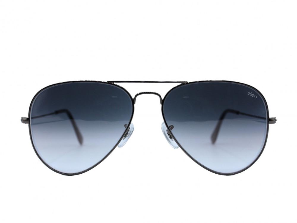 نظاره شمسية بيضاوي  من ماركة ELLEN لون العدسة رمادي مدرج