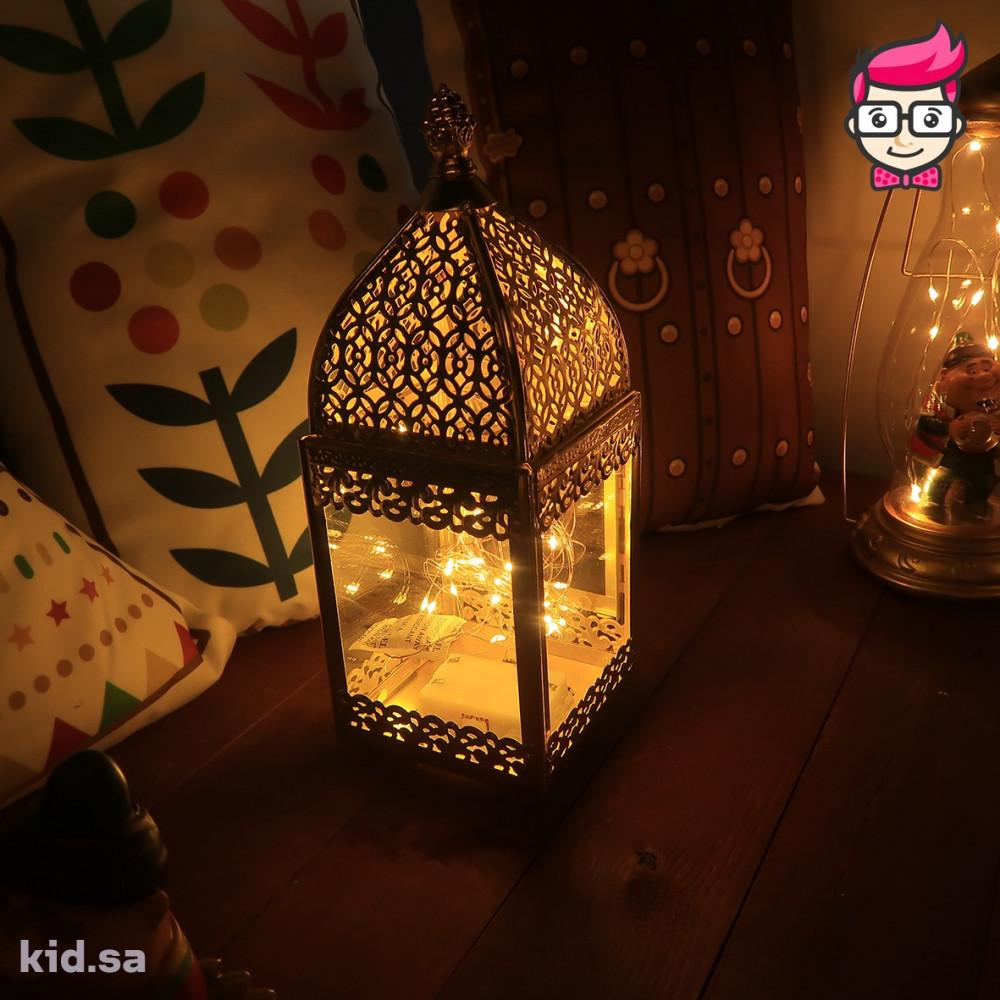 طقم فوانيس رمضان ذهبي