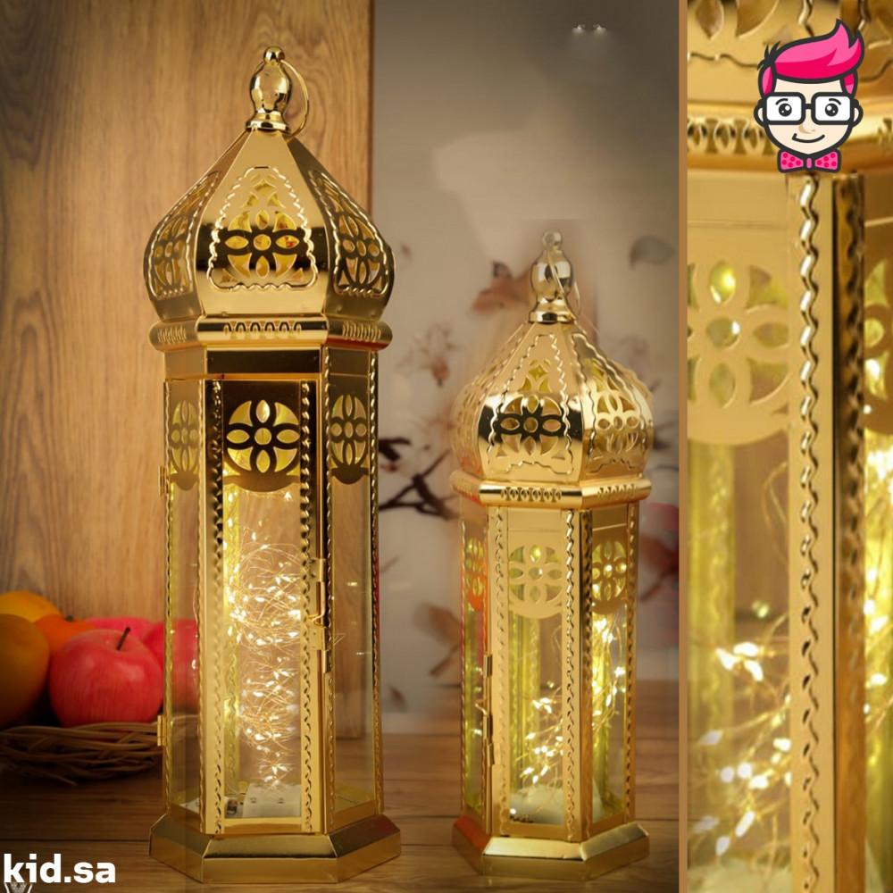 طقم فوانيس ذهبية فاخرة اسلامي