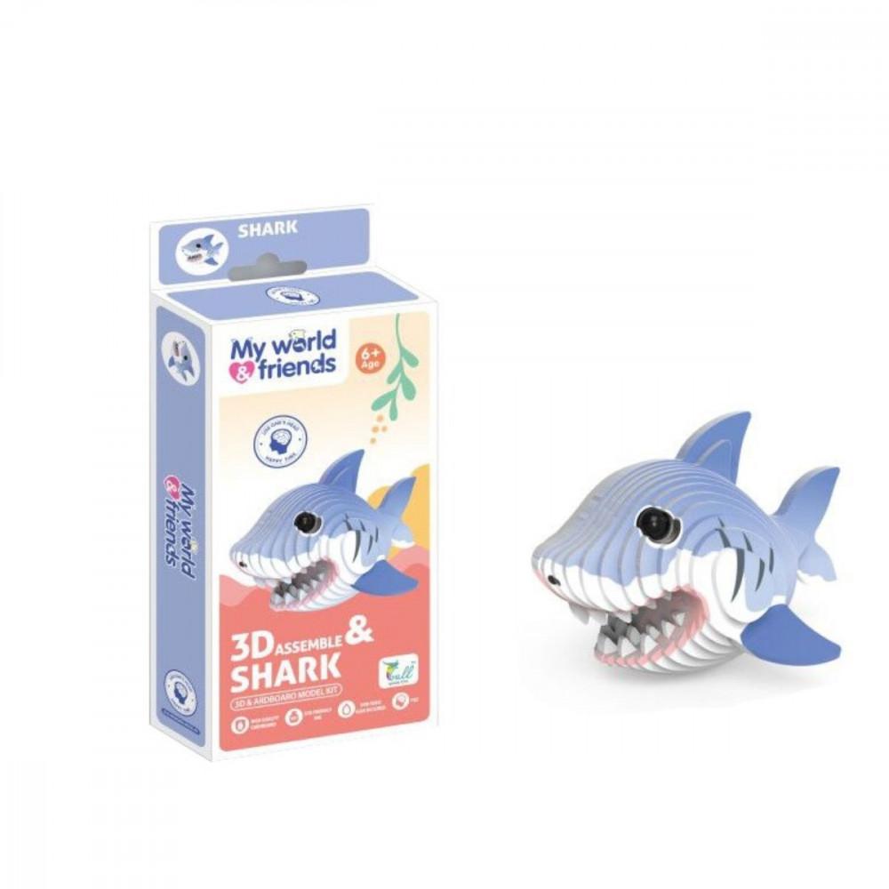 العاب تركيب للاطفال شكل سمكة القرش ثلاثي الابعاد