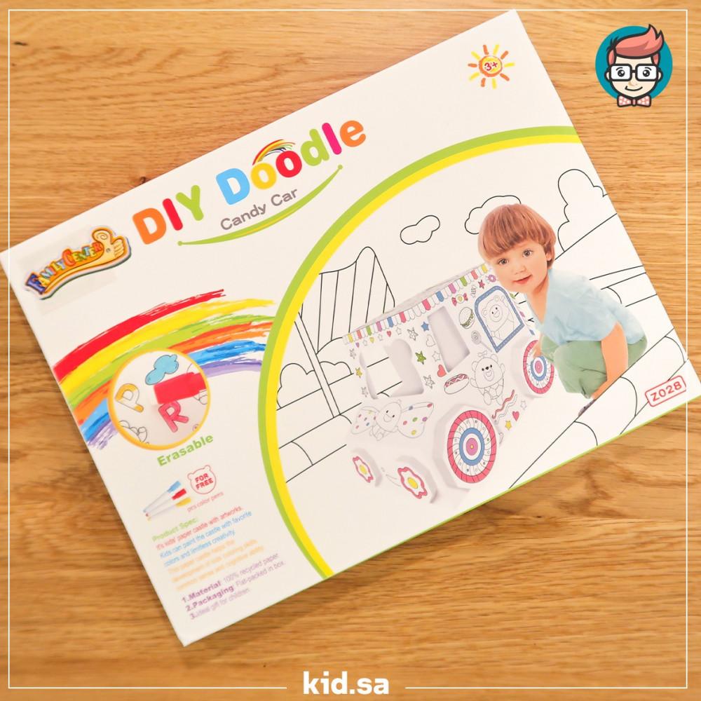 لعبة تركيب مع تلوين الاشكال للاطفال