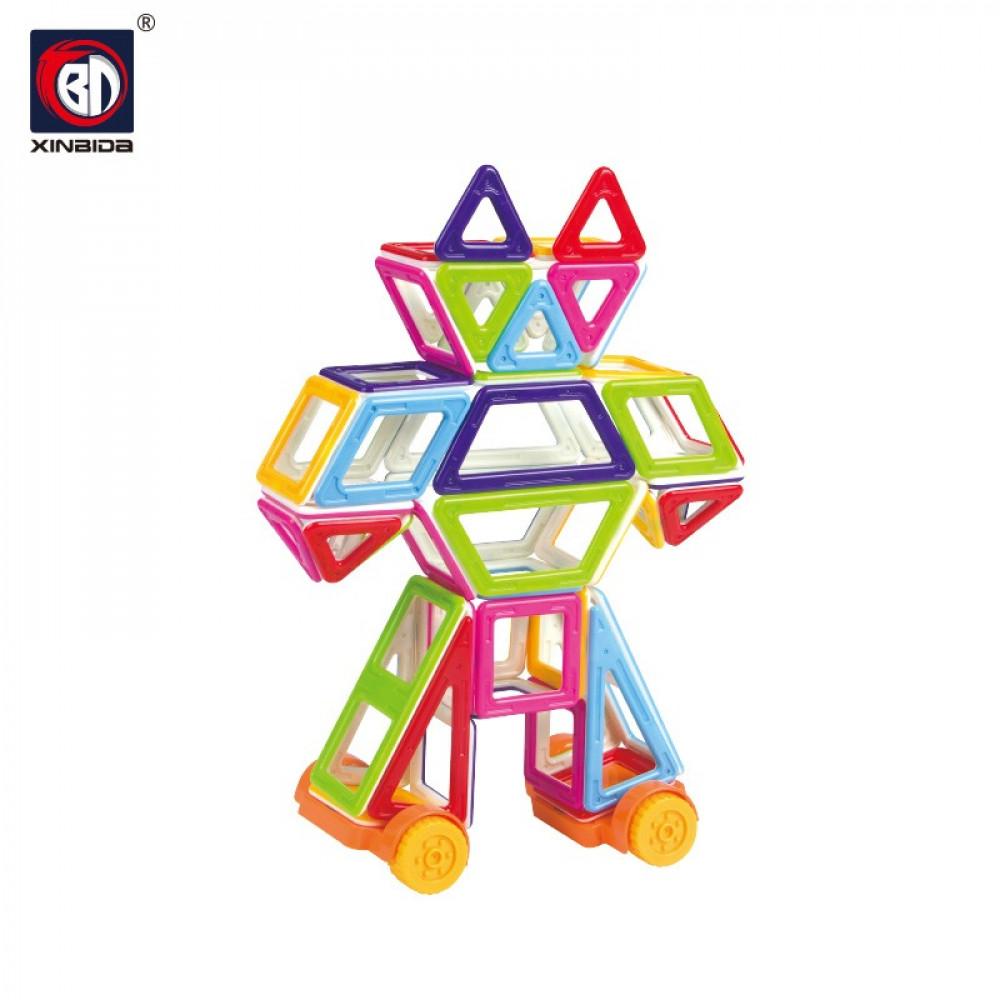 لعبة مغناطيس مربعات و مثلثات اصلي