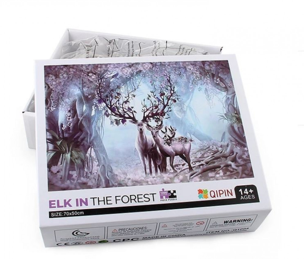 puzzle elk in the forest 1000