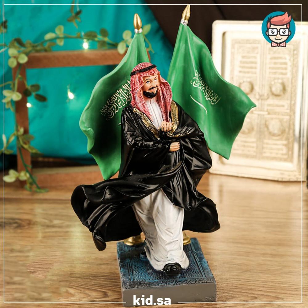 تحفة البيشت السعودي مع العلم فخامة الامير محمد بن سلمان