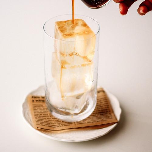 قالب ثلج مشروبات الصيف قوالب كبيرة القهوة المختصة سبانش لاتيه آيس