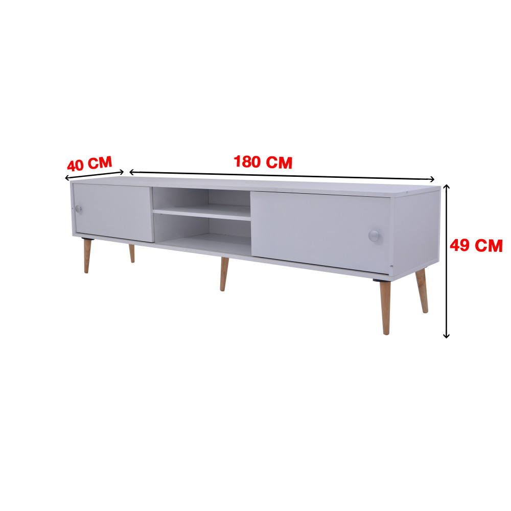 طاولة تلفزيون من كاما C-180-white ash 0121