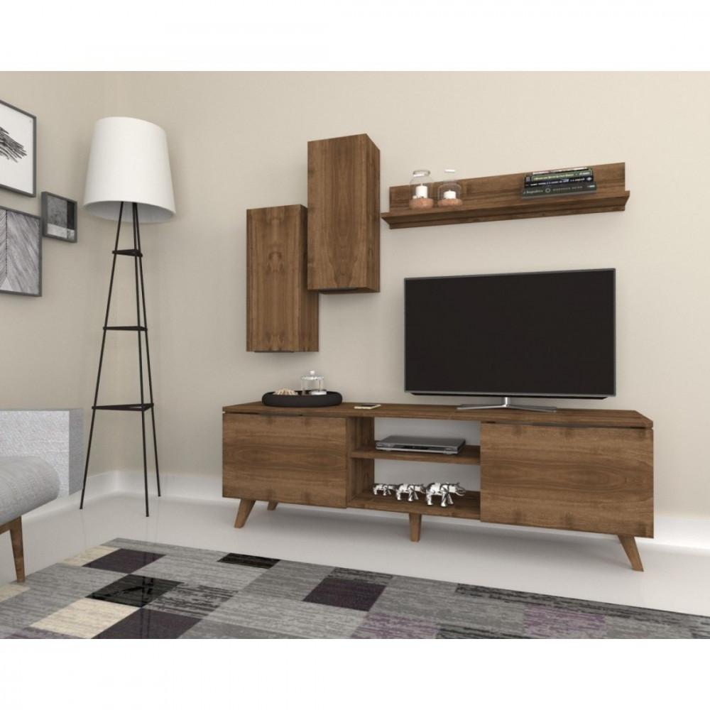 طاولة التلفاز من الخشب