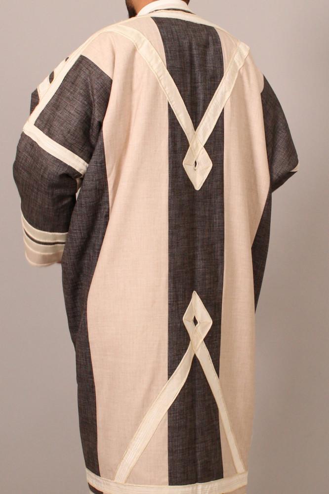 فروة قماش موراكا برقا لون رصاصي وسكري