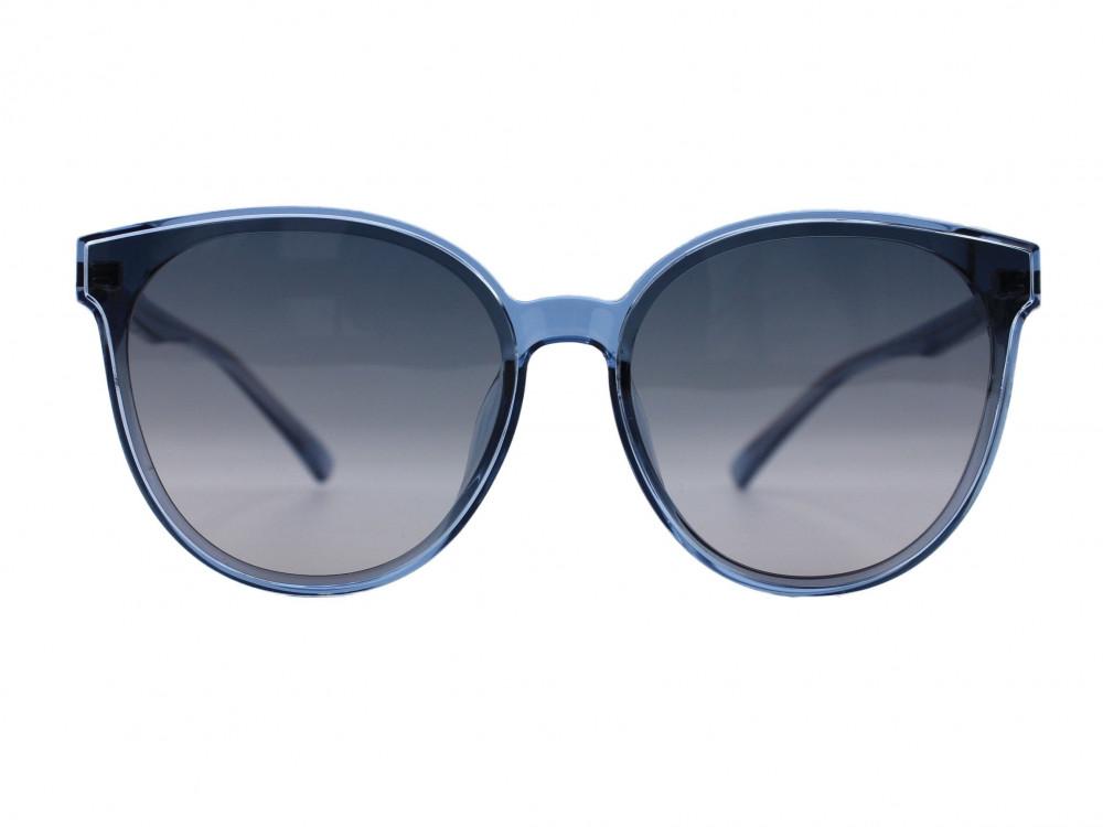 نظارة شمسية ماركة PARIM نسائية لون العدسة رمادي مدرج لون الإطار سماوي