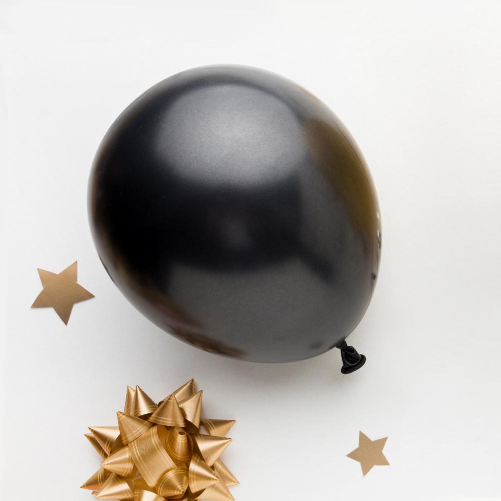 بالونات بلون أسود بالونات هيليوم بالونات حفل التخرج ثيم حفلة التخرج