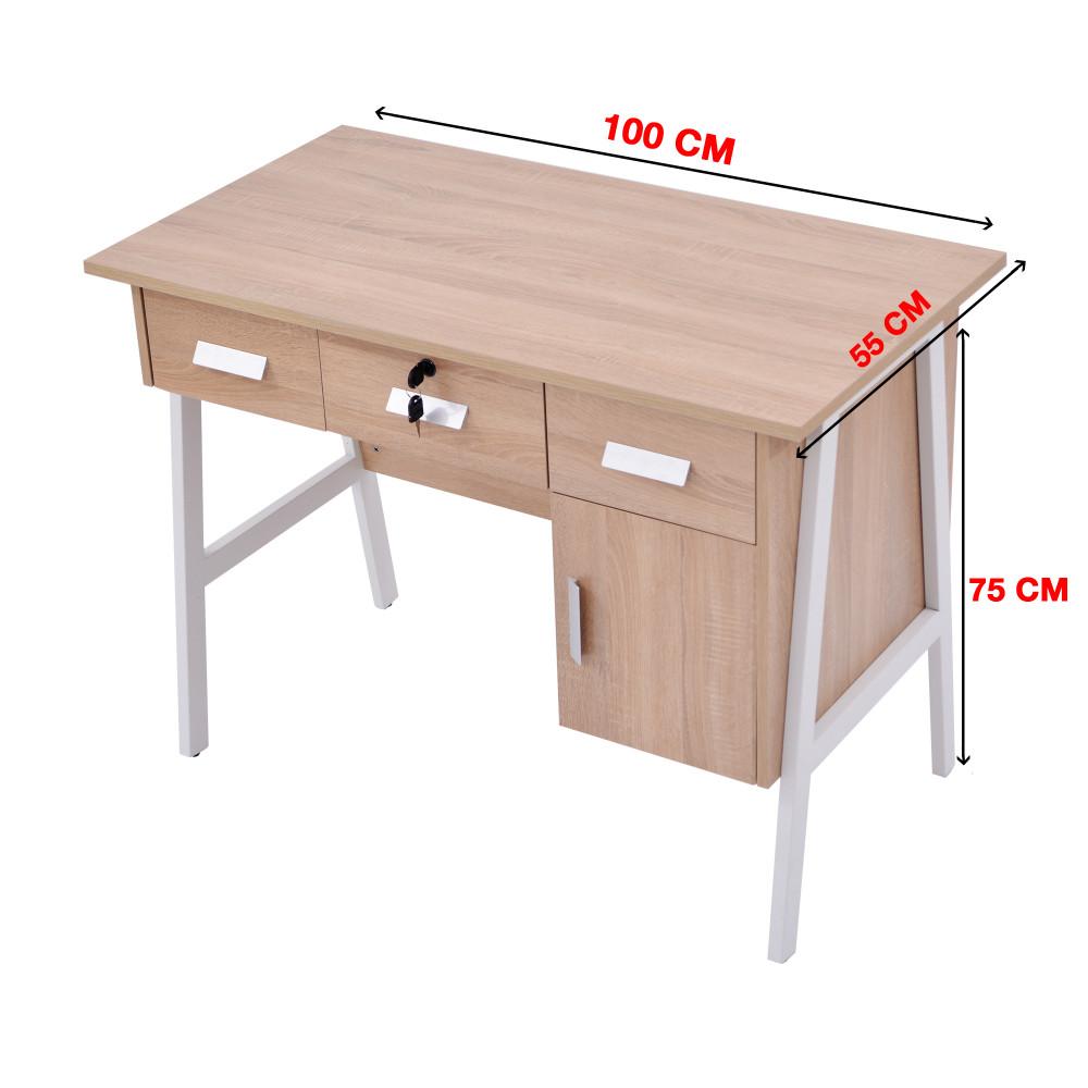 مكتب كاما 100 سم خشبي  9607-100-A