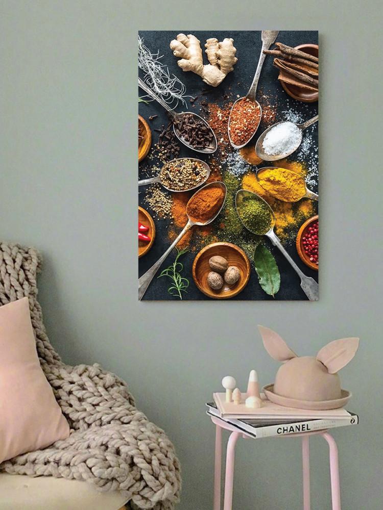لوحة بهارات خشب ام دي اف مقاس 40x60 سنتيمتر