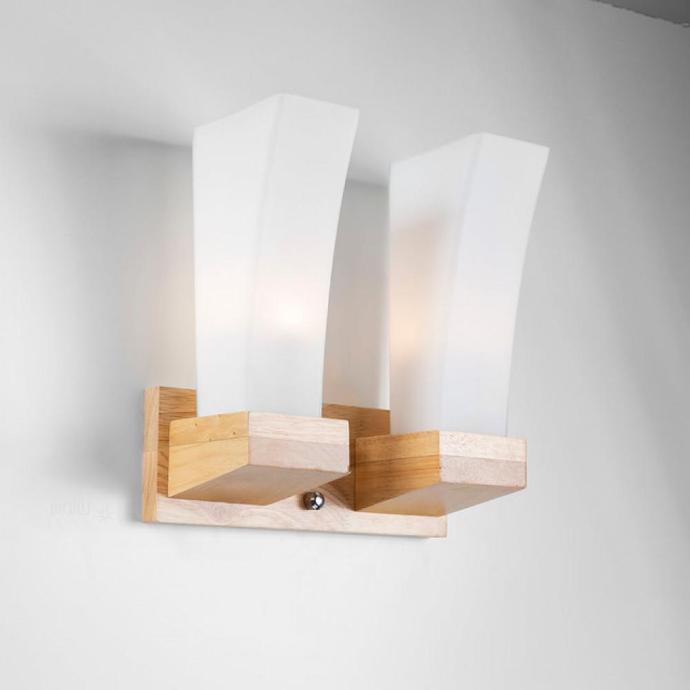 اضاءة خشبية مجوز زجاج مطفي طولية - فانوس